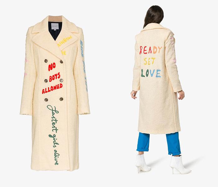 Пальто с надписями Mira Mikati