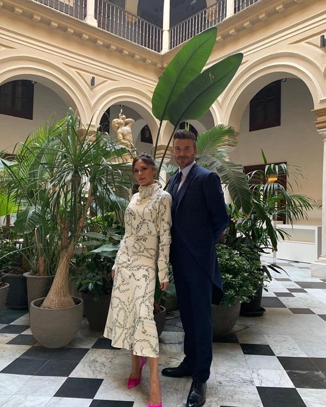 Виктория и Дэвид Бекхэм на свадьбе Серхио Рамоса