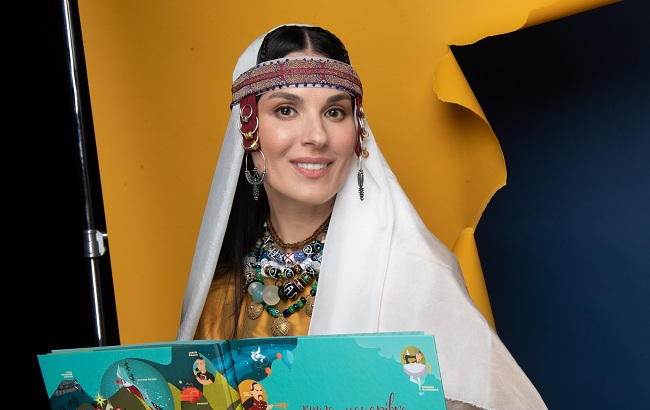 Маша Ефросинина в образе княгини Ольги